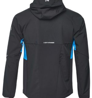 NORTHFINDER RONDY men's hybrid-softshell jacket in changing weather conditions 3-layer