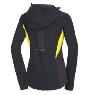 NORTHFINDER RONDA women's hybrid-softshell jacket in changing weather conditions 3-layer  blackyellow